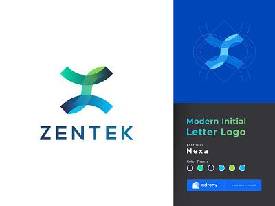 Modern Gradient Z Letter Logo Design ui app shop icon company logo z icon z logo color colorful design logo letter initial gradient modern