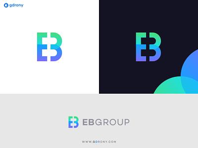 Initial EB Group Business Logo Design modern icon design logo design branding graphic design company logo illustration design logo letter business company eb b e initial
