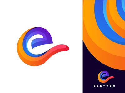 Colorful E Letter Logo