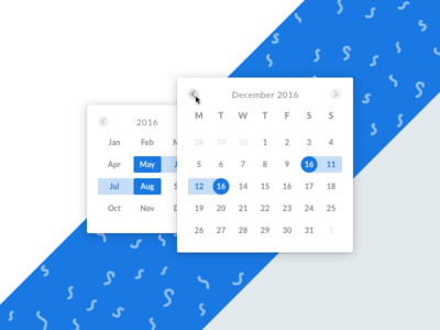 Datepicker web flat ux app design datepicker ui