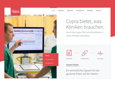 Copra Website branding website interface ui