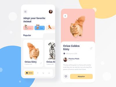 Pets Adoption UI 🐹 pet care dog app dog animals ui animals app design app web designer uidesign colorful app uiux ui adoption pets dashboard 2020 trand