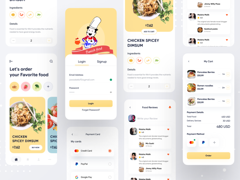 Food App UI delivery app food app application conceptual design colorful app dashboard uxdesigner uidesigner designer interface design interface dribbble app design app uxdesign uidesign ux design ux ui design ui