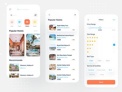 Travel App UI web ecommerce dashboard designer design user experience user interface app concept travel app flight search flight interface uxdesign uidesign ux ui booking hotel booking hotel