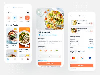 Travel App UI (Food Page) food app food user interface app ui designer dashboard animation ios trip interface colorful app booking app booking travel app travel ux design ux ui ui design app design