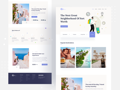 🔥Travel Agency Landing page landingpages agency website agency branding agency travel blog tour travel travel agency travel guide trip planner vacations vacation website design software nature photography mockup landing page ui landingpage homepage