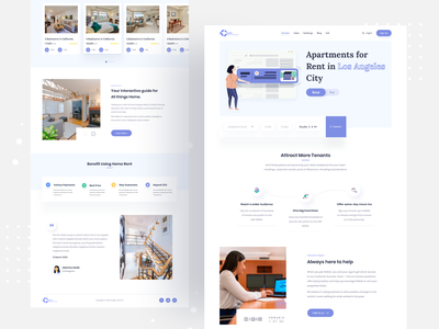 Real Estate - Landing page real estate logo real estate branding real estate agency real estate agent real estate designer design user experience userinterface ux uiux ui landing page apartments for sale design support dashboard ui dashboard buy sell apartments