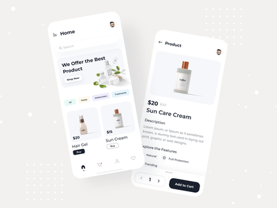 Beauty Product App trendy beauty product beauty user experience userinterface interfacedesign inspiration interface uxdesign uidesign uxui uiux ui ux colorful app user interface ecommerce designer dashboard app  design