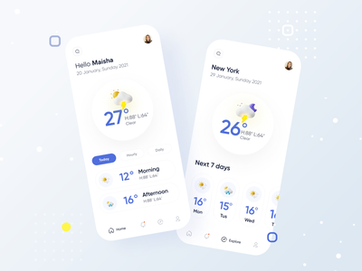 Weather UI mobile daily ui minimal ios weather weather app branding design designer conceptual design typography colorful app uxdesign uidesign interface app app  design uiux ux ui