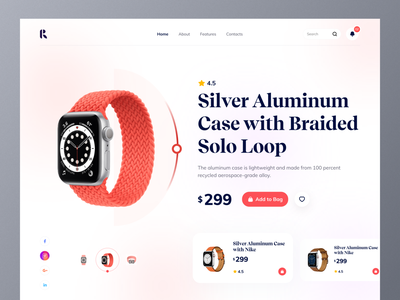 Smartwatch ⌚️ Product Landing Page webdesign uidesign design interface product page product watchapp ecommerce app design application apple landingpage website web design uiux ux ui web app watch