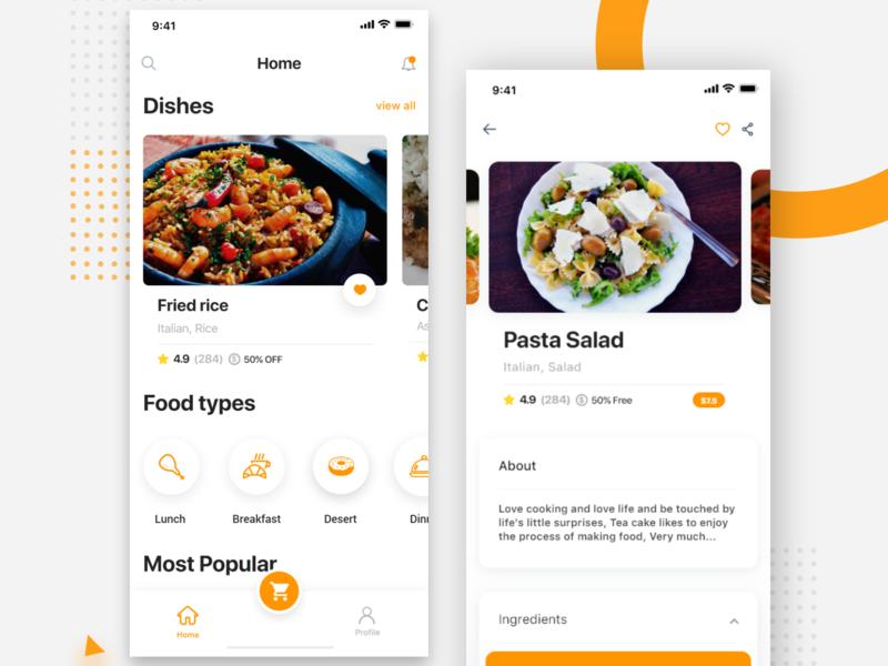 Food Delivery App restaurant food app food delivery app food app ios  lunch ui  ux order  pizza android  app app  design