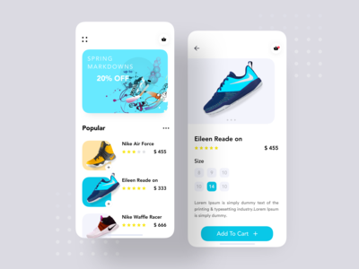 Sneakers UI App Concept