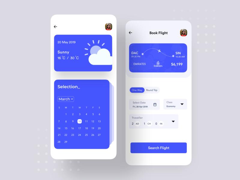 Flight Booking App UI Design by Jawadur Rahman on Dribbble