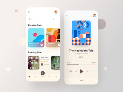 Audio Book UI App mobile app typography app concept ecommerce app  design social app social reader reading app podcast booking app book app book audio player audiobooks audiobook audio app app