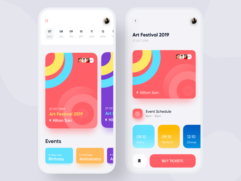 Event App modern app product design typography android  app user interface colorful app conceptual design designer app concept app  design analytic dashboard event app event