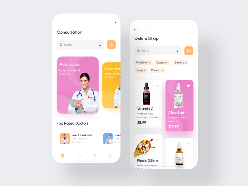 Online Consultation App health app health healthcare physician mobile consultation user interface typography dark app app ui design conceptual design designer app concept dashboard app  design ecommerce