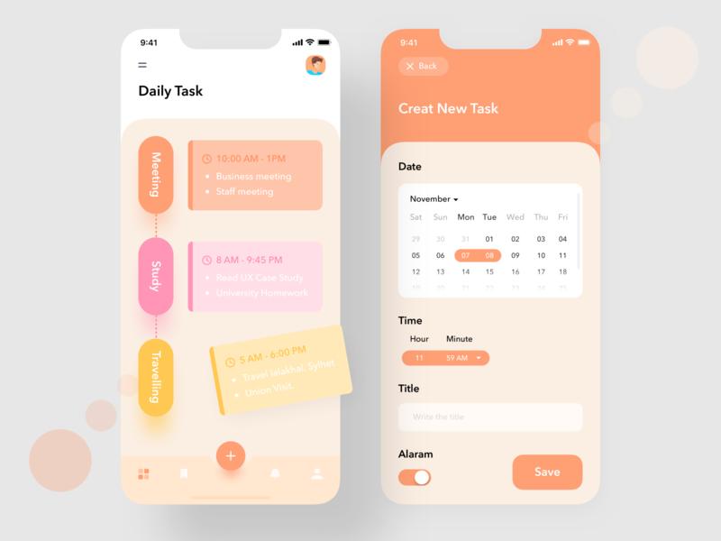 Task management App task flow task list project management typography ux ui user interface android  app colorful app task task management task app conceptual design dashboard app  design