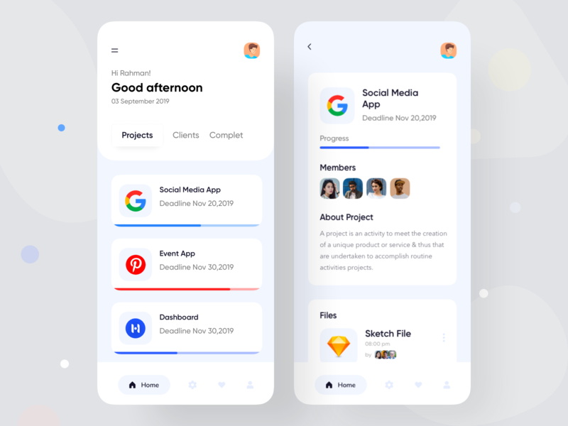 Project Management App uiuxdesign todo app todo task management task manager task music project dark app app ui design designer android  app colorful app dashboard typography app concept ecommerce app  design