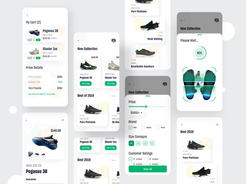 Sneakers Shop App app design ux ui app online marketing agency online marketing e-commerce website e-commerce app e-commerce shop e-commerce user interface android  app colorful app designer conceptual design typography ecommerce app concept dashboard app  design