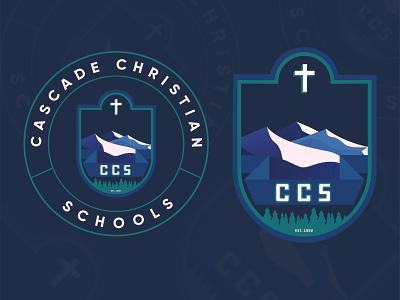 Cascade Christian Schools Logo | WIP school education illustration crest logo washington puyallup christian cascade