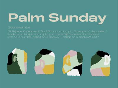 Palm Sunday | Motion Church pastel papercut easter sunday palm event branding illustration flat christian
