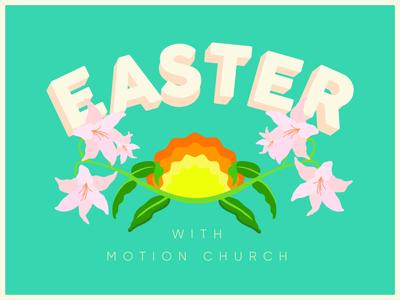 Quarentine Easter | 2020 christian illustraion retro design event branding sermon graphic church marketing church design floral easter quarantine