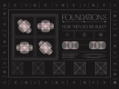 Foundations foundation pattern panagram sermon series event church design sermon graphic illustration design sermon art branding lettering christian