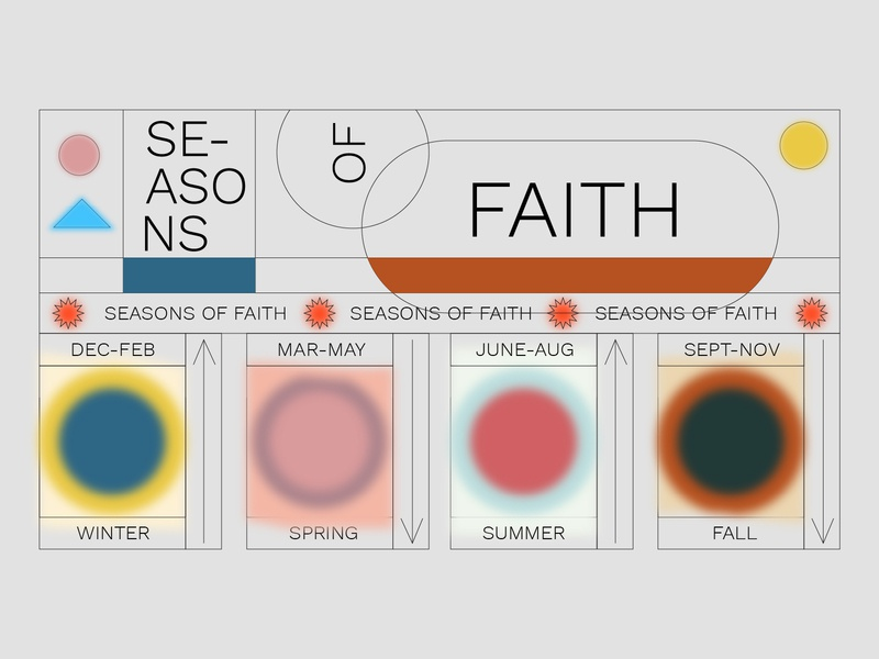 SEASONS OF FAITH | SERMON SERIES DESIGN midcentury faith gradient design retro sermon series branding sermon art flat church design sermon graphic christian