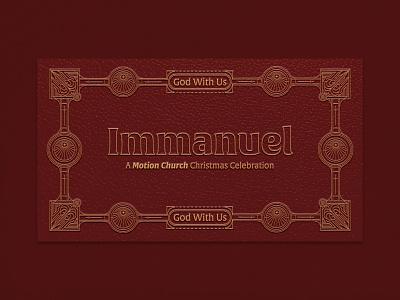 Immanuel | Christmas Celebration pattern lettering logo flat immanuel event church design sermon graphic christmas design branding christian
