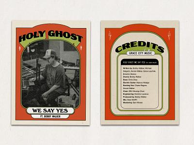 Holy Ghost | Single Cover Grace City Music 70s retro event vintage badge single cover album cover album art church design lettering design branding christian