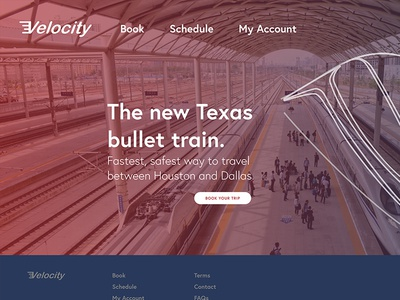 Bullet Train System Landing Page