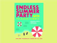 Gig Poster for Polaroid Summer