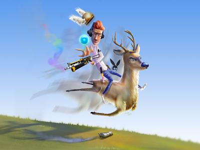 Game illustration graphic  design draw graphic art art character design illustration drawing digital painting ilustração ilustración digital art concept game art veado deer game