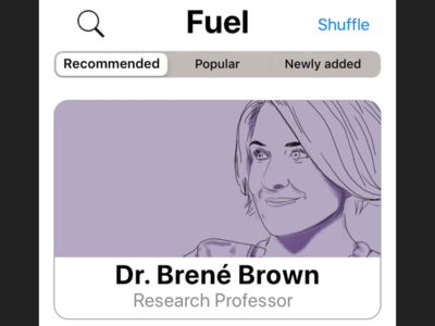 Fuel— inspiration app for creatives (1/2)