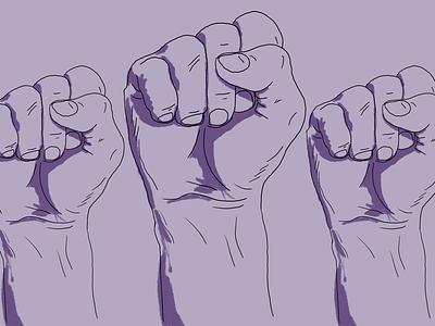 Determined monochrome purple illustration determination