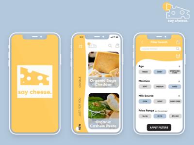 Say Cheese app design