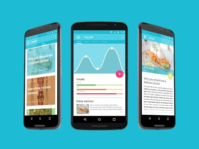 TrackR material v2 material design design ui user interface application android graphic art