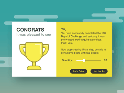Congratulations interface user web design rebound ios ux ui