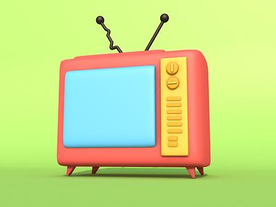 3D Cartoon TV cinema 4d cartoon style modeling
