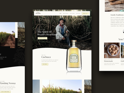 Nossa Cachaca Brazil – Tequila spirits brazil tequila web design website design