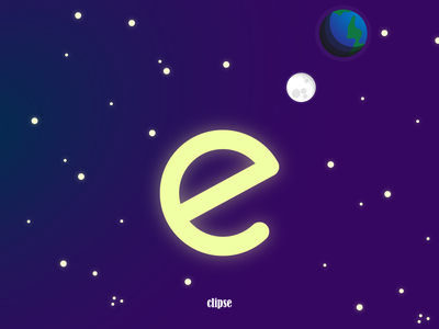 Eclipse for @inkovid typo space earth eclipse typography quarantine design custom type illustration challenge