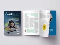Art Touch Magazine Layout  Mochup
