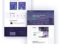 Nexterp Web Page Mockup