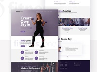 Fitnesszone Web Page Mockup