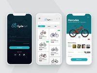 Cycle Cart App Layout