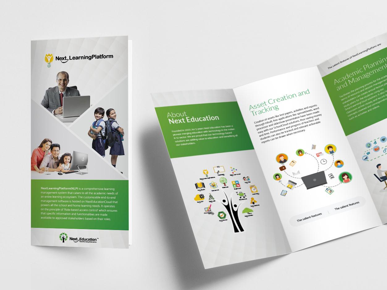 Dribbble 3 Fold Brochure Design Jpg By Sreejith R