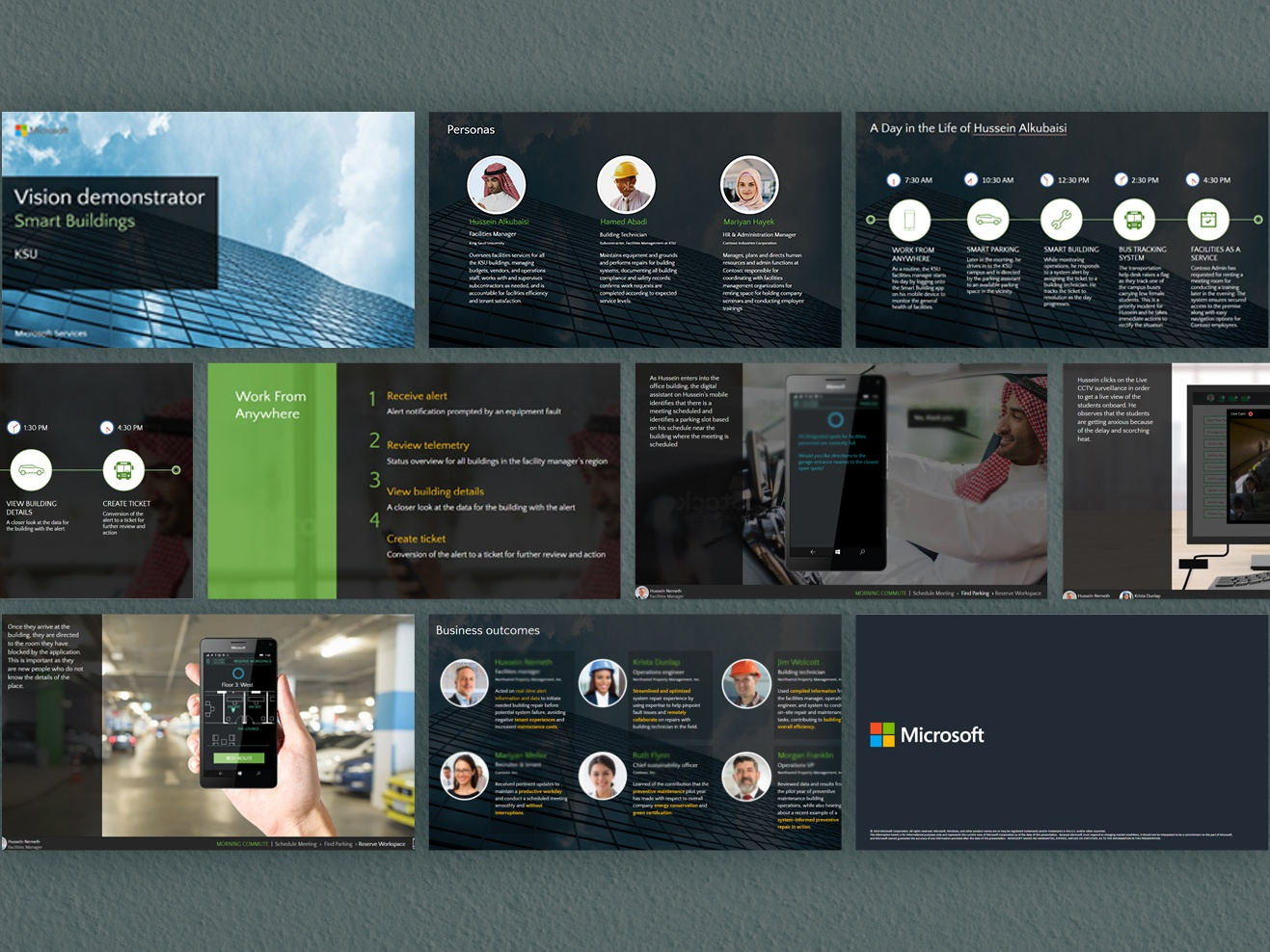 Vision Demonstrator  Microsoft page layout page design powerpoint presentation powerpoint design