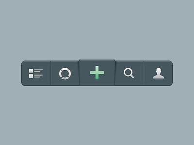 'Floating' tab bar for iOS app ios iphone interface ui