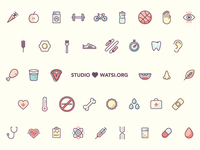 Icons for Pay It Forward Bundle + Watsi.org