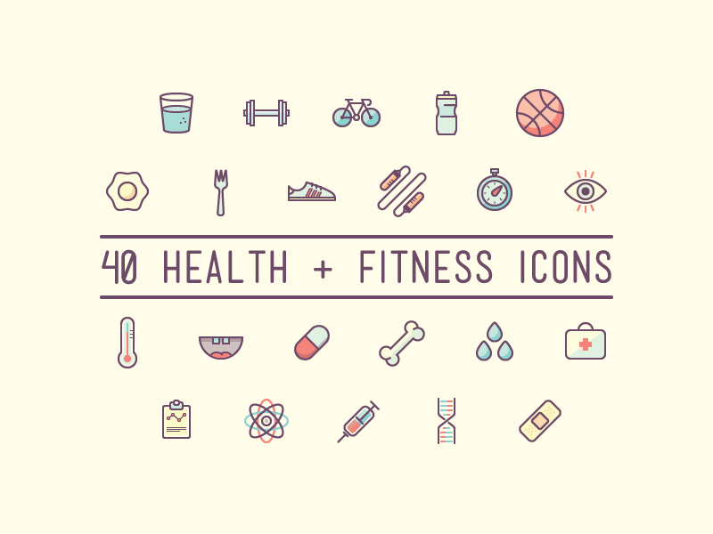 Health & Fitness Icons (download) download free icons fitness health
